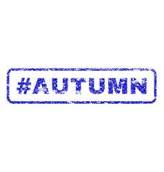 hashtag autumn rubber stamp vector image