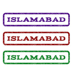Islamabad watermark stamp vector