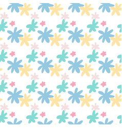 isolated seamless botanic pattern with daisy vector image