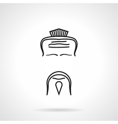 Japanese chef icon vector image