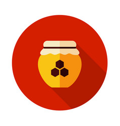 jar with honey icon vector image