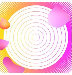 liquid elements mixed color plastic shapes or vector image