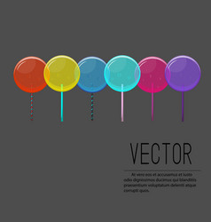 lollipop candy colorful vector image