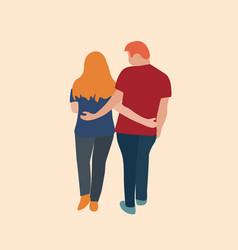 man and woman walking vector image