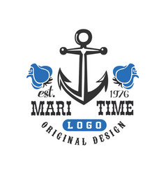 Maritime logo original design est 1976 retro vector