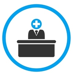 Medical bureaucrat rounded icon vector