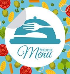 Menu and food design vector image