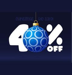 Merry christmas big sale banner christmas sale 40 vector