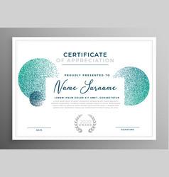 Modern creative certificate of appreciation vector