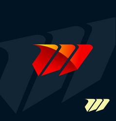 Modern letter m logo speed fast design concept vector
