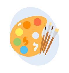 multicolor watercolour paint box vector image