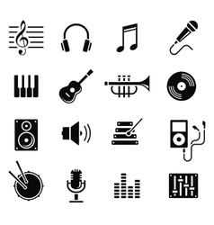 music and multimedia icons vector image