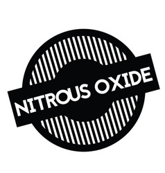 Nitrous oxide stamp on white vector