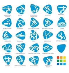Paralympics Icon Pictograms Set 5 vector