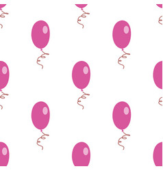 pink white air balloons seamless pattern vector image