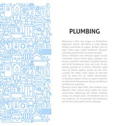 plumbing service line pattern concept vector image