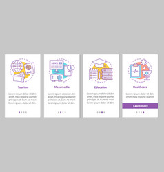 Public sector onboarding mobile app page screen vector