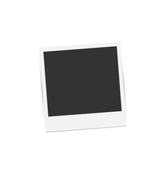 realistic retro photo frame isolated on white vector image