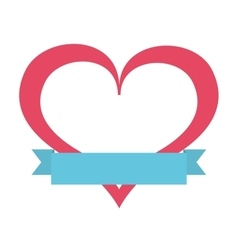 romantic heart isolated icon design vector image