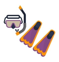 scuba diving snorkel and flippers vector image