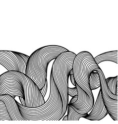 Seamless wave hair line pattern vector