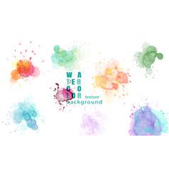Set colorful abstract watercolor splash vector