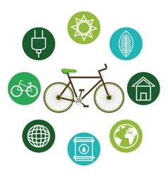 Set eco friendly icons vector