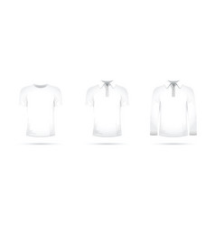 set of white t-shirts vector image