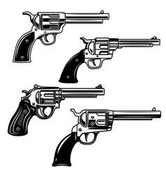 set revolvers on white background design vector image
