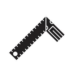 set square glyph icon vector image