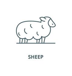 Sheep line icon linear concept outline vector