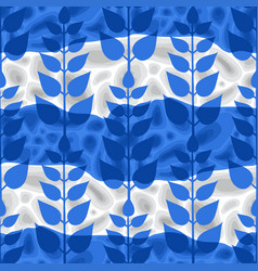Simple abstract pattern blue colored styized vector