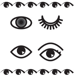 Simple eye icon or logo isolated vector