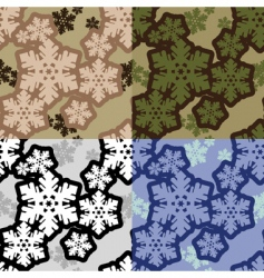 Snowflakes camouflage vector