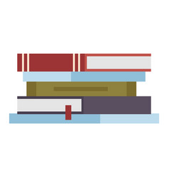 stack textbooks lying one on top other vector image