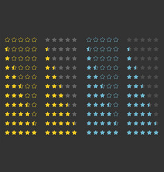 stars rating design element vector image