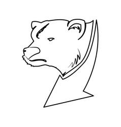 Stock market bear vector