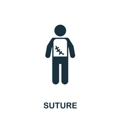 suture icon simple element from medical services vector image