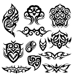 tattoo set vector image