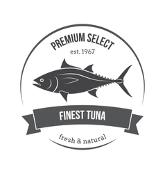 tuna label vector image