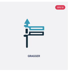Two color gragger icon from religion concept vector