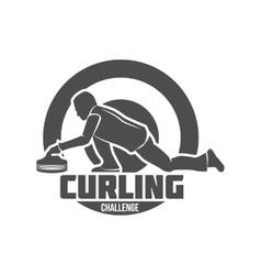 vintage curling labels and design elements vector image