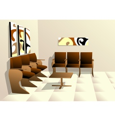 waiting room vector image