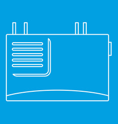 wall router icon outline style vector image