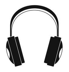Wireless headphones icon simple style vector