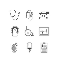 Black icons for resuscitation vector image vector image