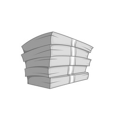 Money stack icon black monochrome style vector image vector image