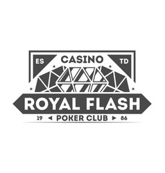 Royal flash casino isolated label vector