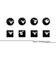 sheep icons vector image vector image