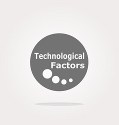 technological factors web button icon vector image vector image